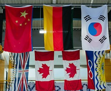 flags at Kwantlen Park Secondary