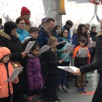 Surrey German School Choir singing at Vancouver Christmas Market